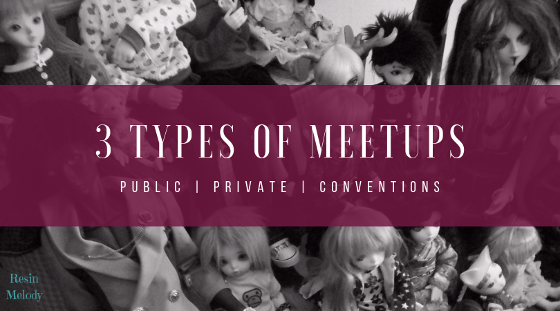 3 types of meetups - public, private, and conventions.