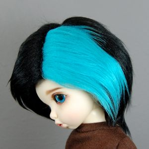 6/7 Blue and Black Wig