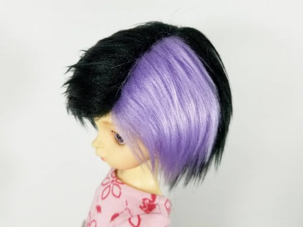 6/7 Black and Purple WIg