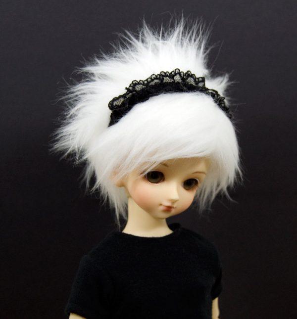 7/8 White Wig