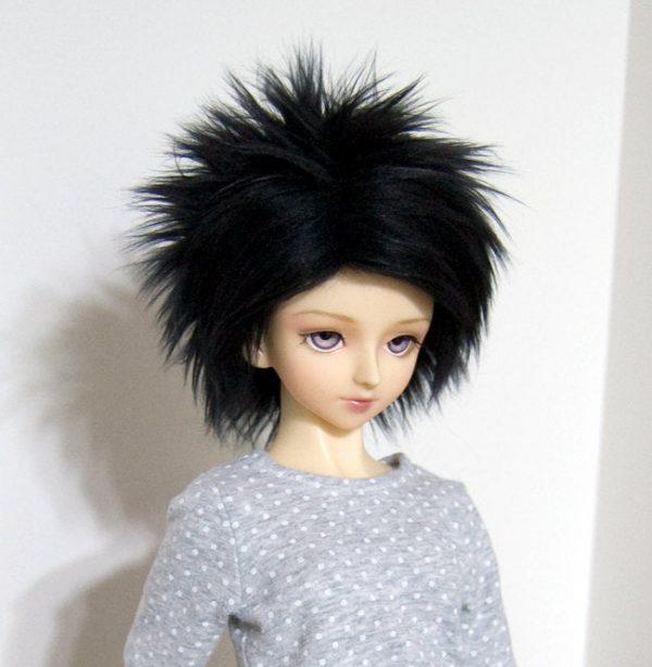 8/9 Black Wig