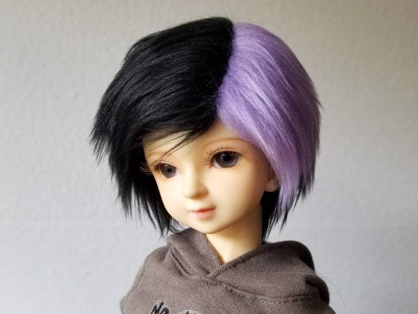 8/9 Black and Purple Wig
