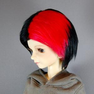 8/9 Black and Red Wig