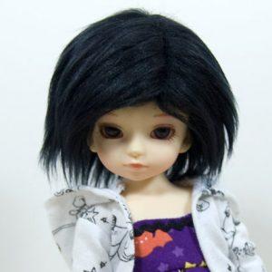 6/7 Black Wig