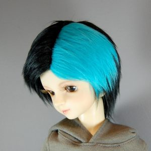 8/9 Black and Blue Wig