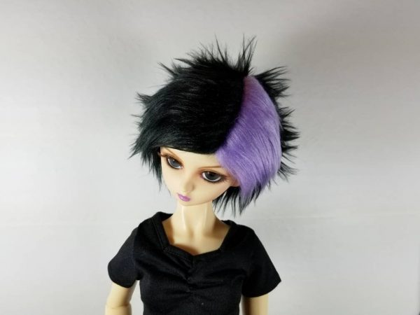 9/10 Black and Purple Wig