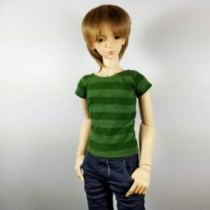 SD13 Boy Green Striped Shirt
