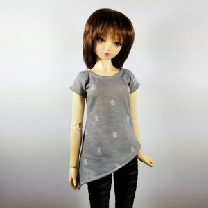 SD Grey Asymmetrical Tunic Top