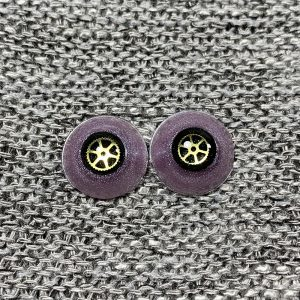12mm Purple Sclera with Black Iris and Gear Steampunk Pupils