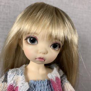 14mm Grey with Black Heart Pupils BJD Eyes