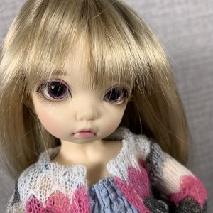 14mm Dusty Rose and Black Hearts BJD Eyes