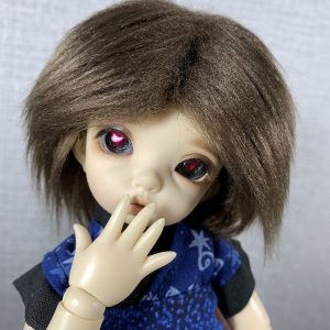 14mm Purple Sclera with Pink Heart Pupils