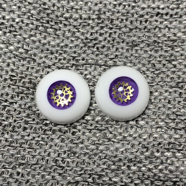 14mm Purple Steampunk BJD Eyes