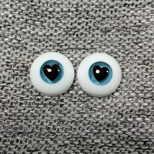 14mm Teal with Black Heart Pupil BJD Eyes
