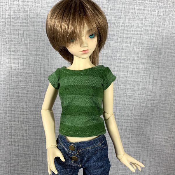 Slim MSD Green Striped Tee