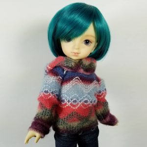 YoSD Hooded Fair Isle Sweater