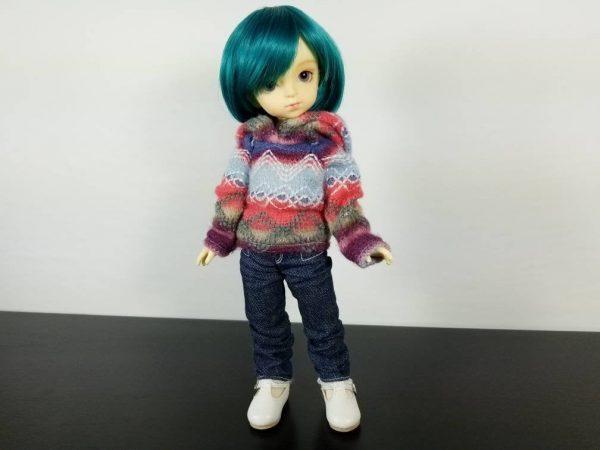 YoSD Hooded Fair Isle Sweater