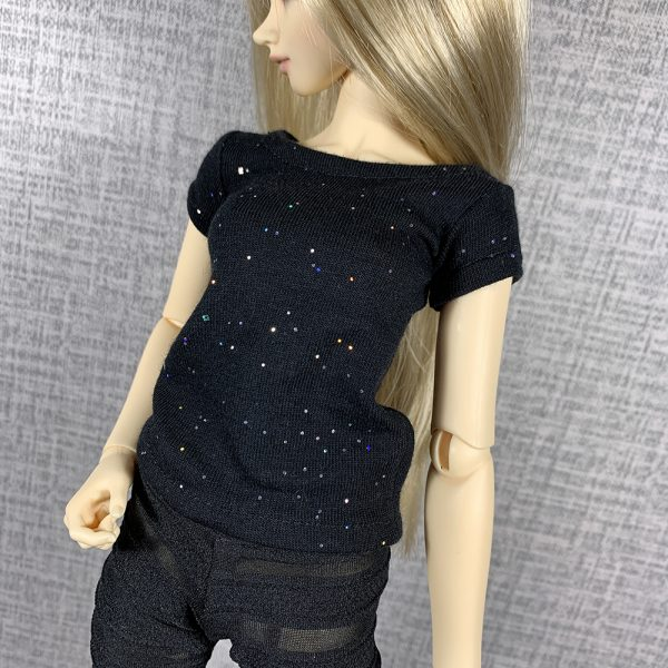 Slim MSD Black Sparkles T-Shirt