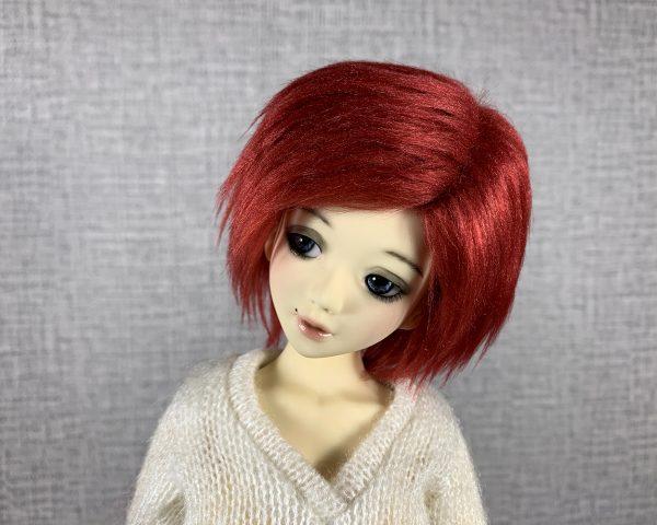 6/7 Burgundy Wig
