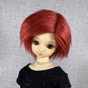 7/8 Burgundy Wig