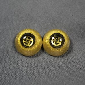 18mm Gold Steampunk Eyes