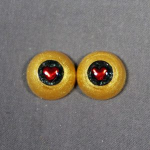 16mm Gold Sclera with Red Heart Pupils