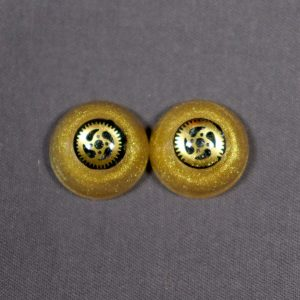 16mm Gold Steampunk Eyes