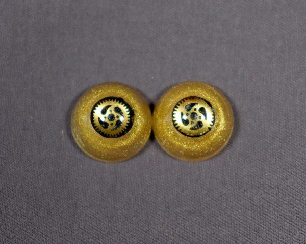 16mm Gold Steampunk Eyes